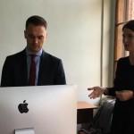 На відкритій лекції Михайла Жернакова, головного експерта РПР з судової реформи, студенти слухають про оновлення судової системи в Україні