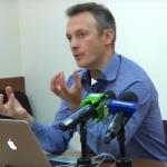 Олег Мірошниченко на прес-клубі Лабораторії демократичних трансформацій